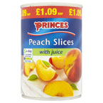 Princes Peach Slices PM £1.09