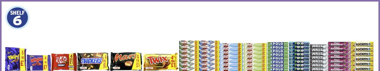 2mx6 Confectionery Shelf 6
