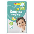 Pampers Baby Dry x Large PM £4.99