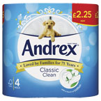 Andrex White Toilet Tissue