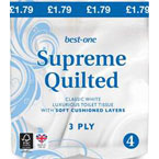 Best-one Luxury Soft Quilted Toilet Tissue 3 Ply