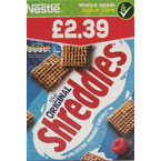 Nestlé Shreddies PM £2.39