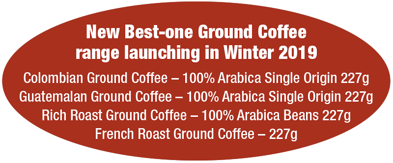 New Best-one Ground Coffee range launching in Winter 2019