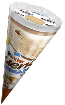 Kinder Dairy Hazelnut Ice Cream Cone