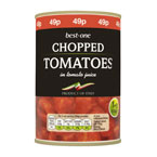Best-one Chopped Tomatoes PM 49p