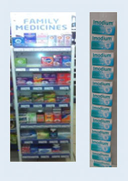 OTC medicines: off shelf display