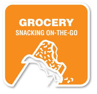 Grocery snacking on-the-go