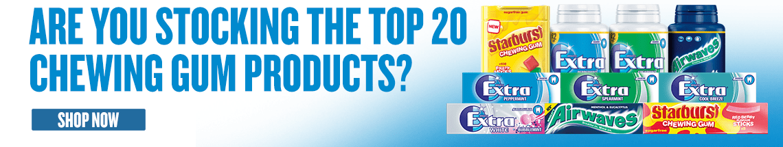 Are you stocking the top 20 chewing gum products? Shop Now