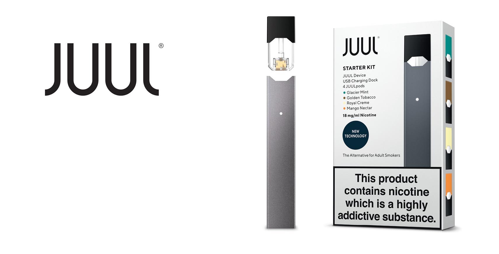 Juul logo and product