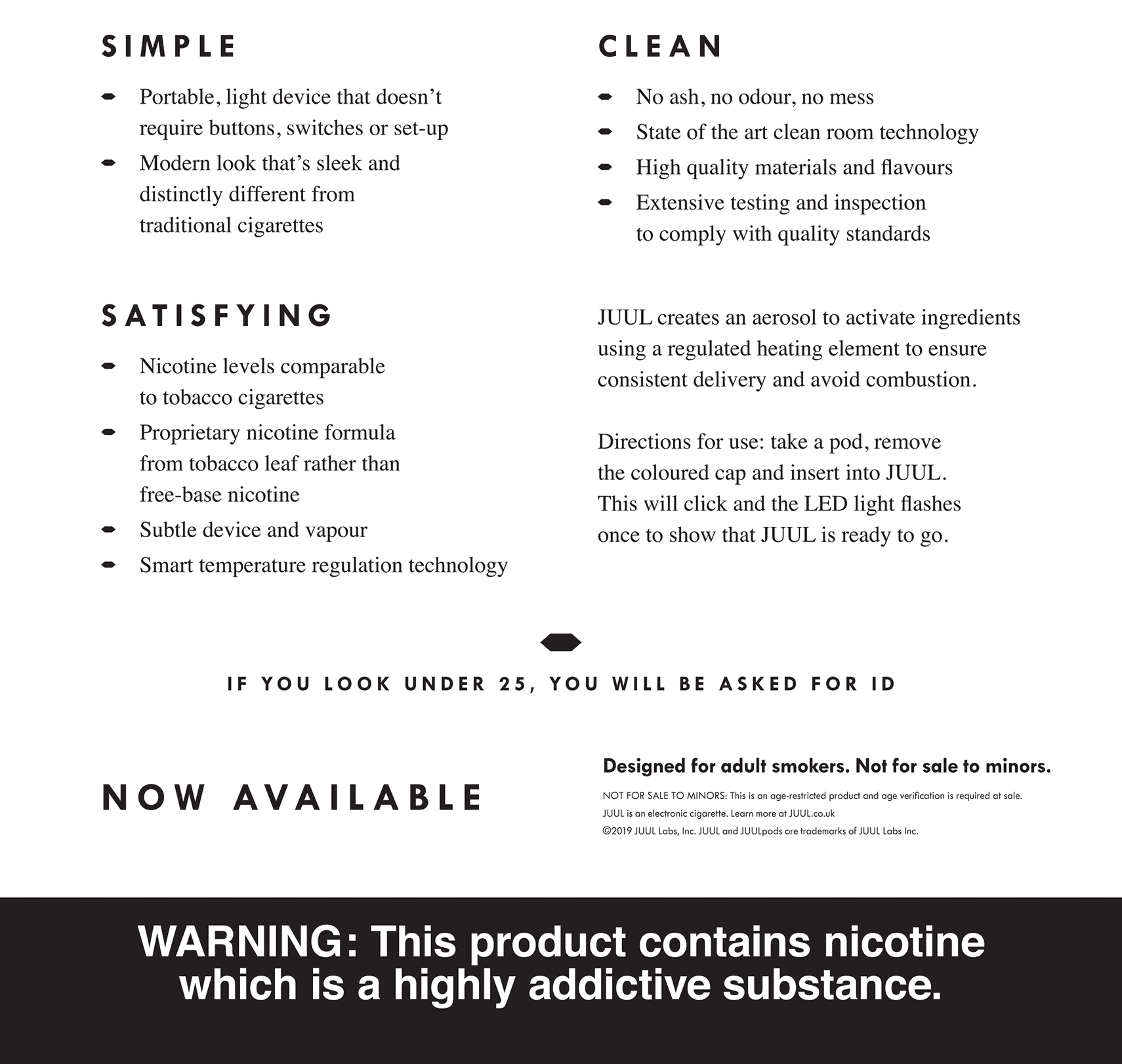 Juul product details