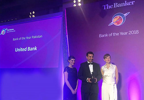 "UBL wins the Banker ""Bank of the Year 2018 – Pakistan"" Award"