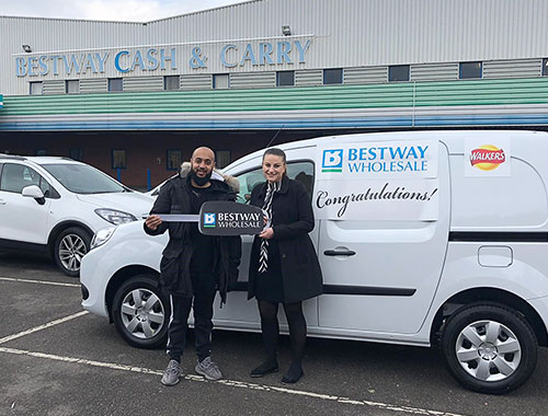 Retailer wins Renault Kangoo van and Walkers stock  in a prize worth £20,000 in exclusive competition