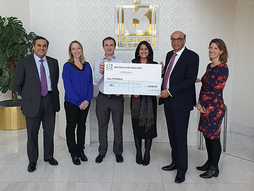 Bestway Foundation UK donates £100,000 to Save the Children