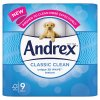 Andrex Classic Clean Toilet Roll Tissue 9 Rolls