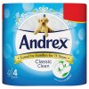 Andrex Classic Clean Toilet Roll Tissue 4 Rolls