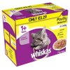 WHISKAS 1+ Cat Pouches Poultry Selection in Jelly 12 x 100g Pack (MPP £3.29)