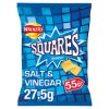 Walkers Squares Salt & Vinegar Snacks PMP 27.5g
