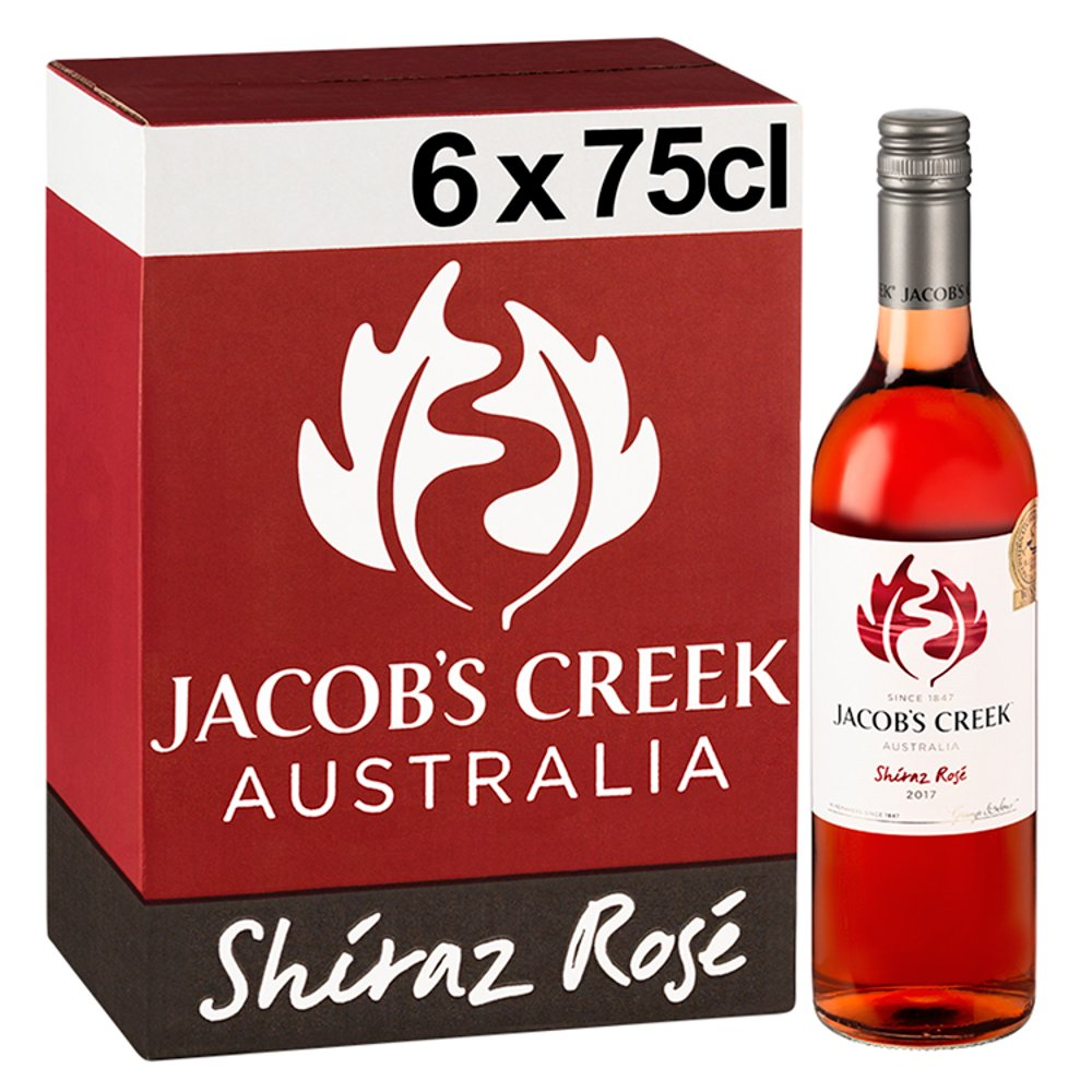 Jacob's Creek Shiraz Rosé Wine 6 x 75cl