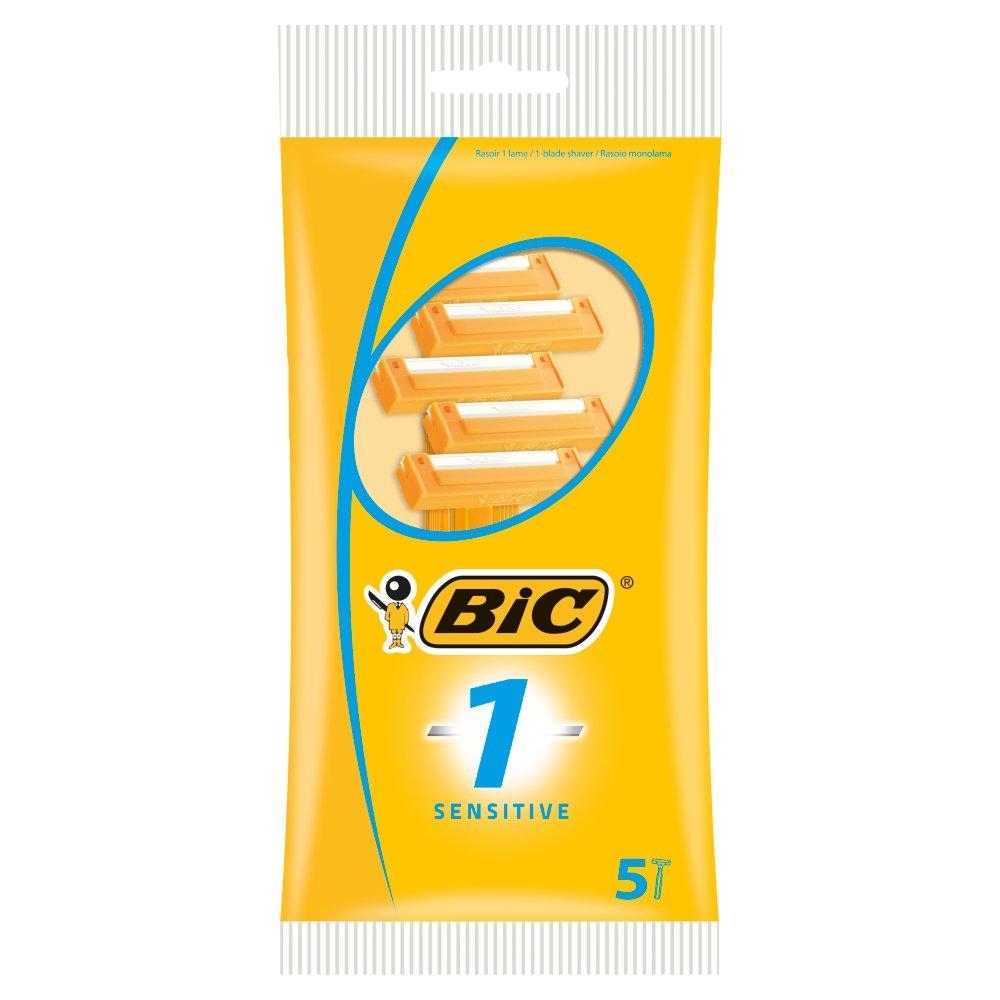 BIC 1 Sensitive Disposable Razors 5 Pack
