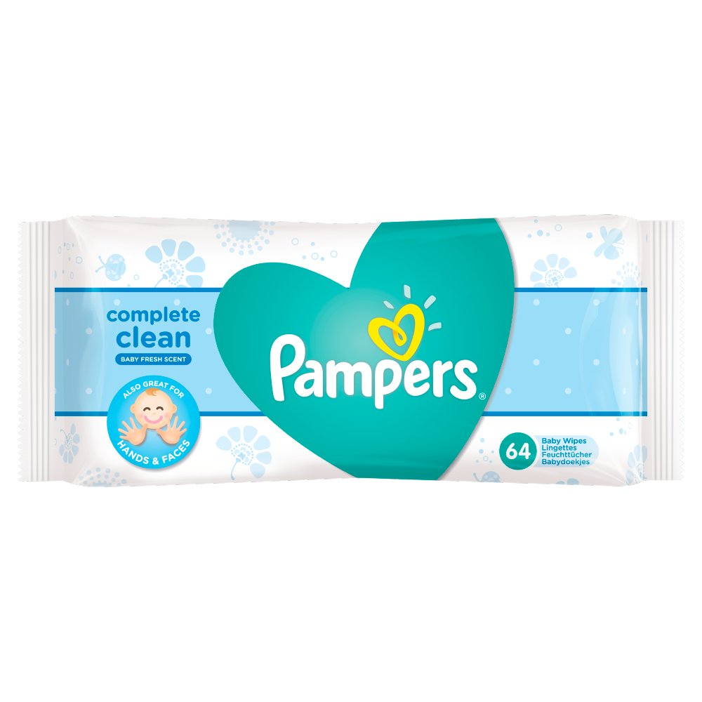 Pampers Complete Clean Baby Wipes Baby Fresh Scent 64 Wipes