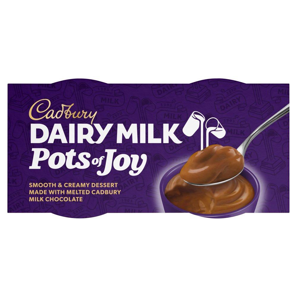 Cadburys Dairy Milk Pots of Joy Chocolate Dessert 2x65g