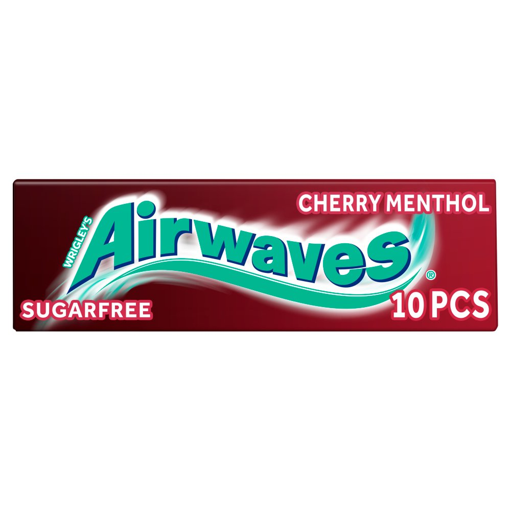 Airwaves Cherry Menthol Sugar Free Chewing Gum 10 Pieces