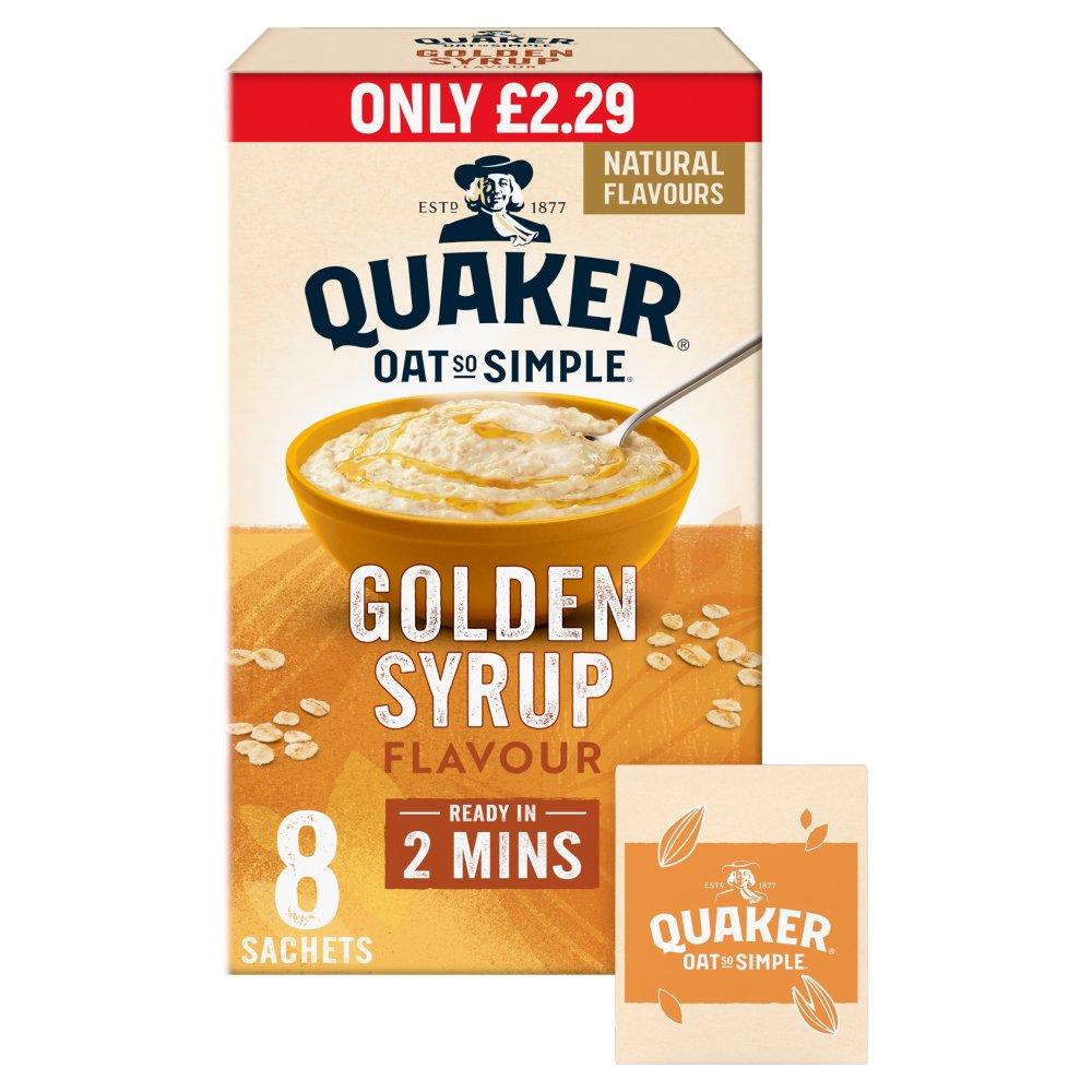 Quaker Oat So Simple Golden Syrup Porridge Sachets £2.29 RRP PMP 8x36g
