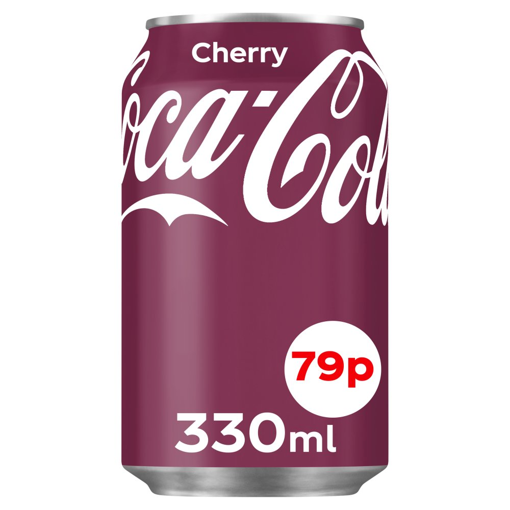 Coca-Cola Original Taste Cherry 330ml Can 79p PMP