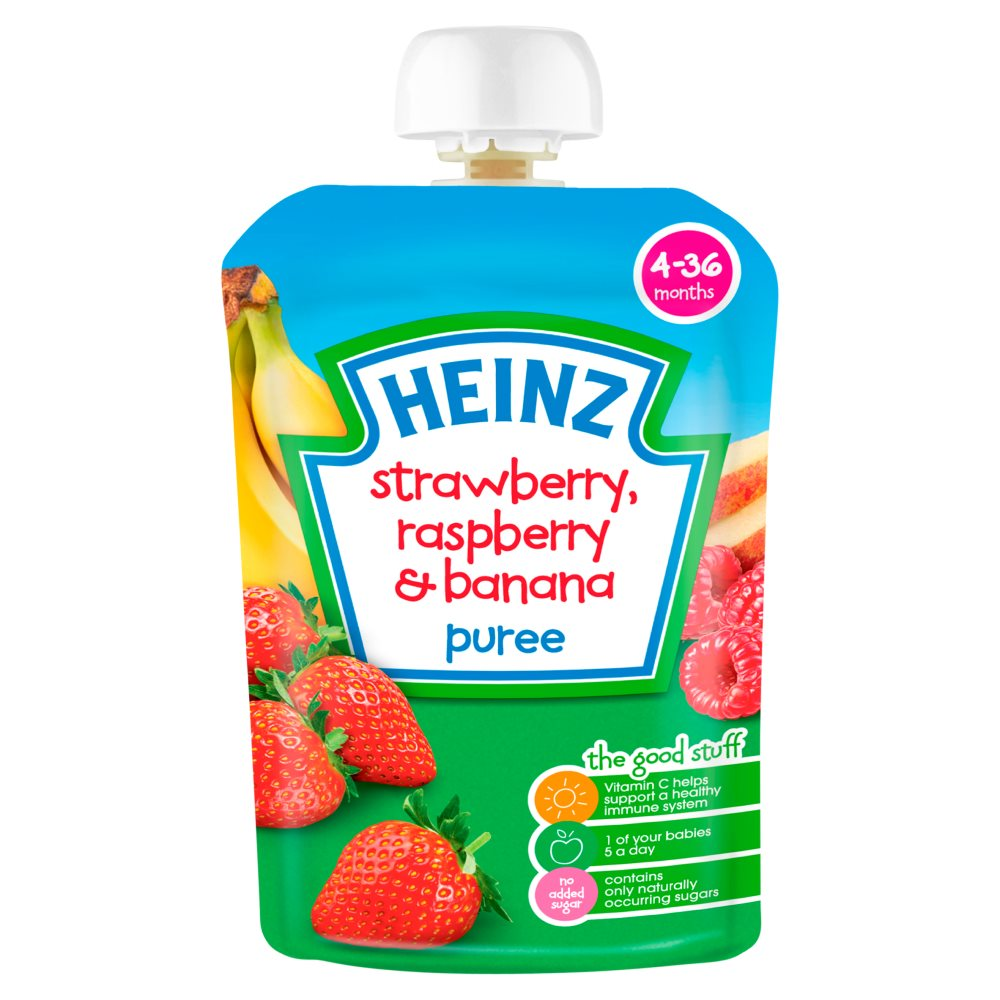 Heinz Strawberry Raspberry Banana Pouch