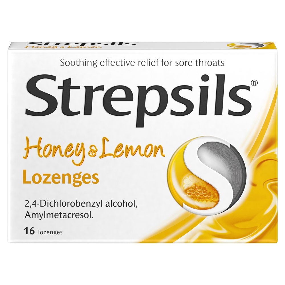 Strepsils Honey & Lemon Lozenges 16s