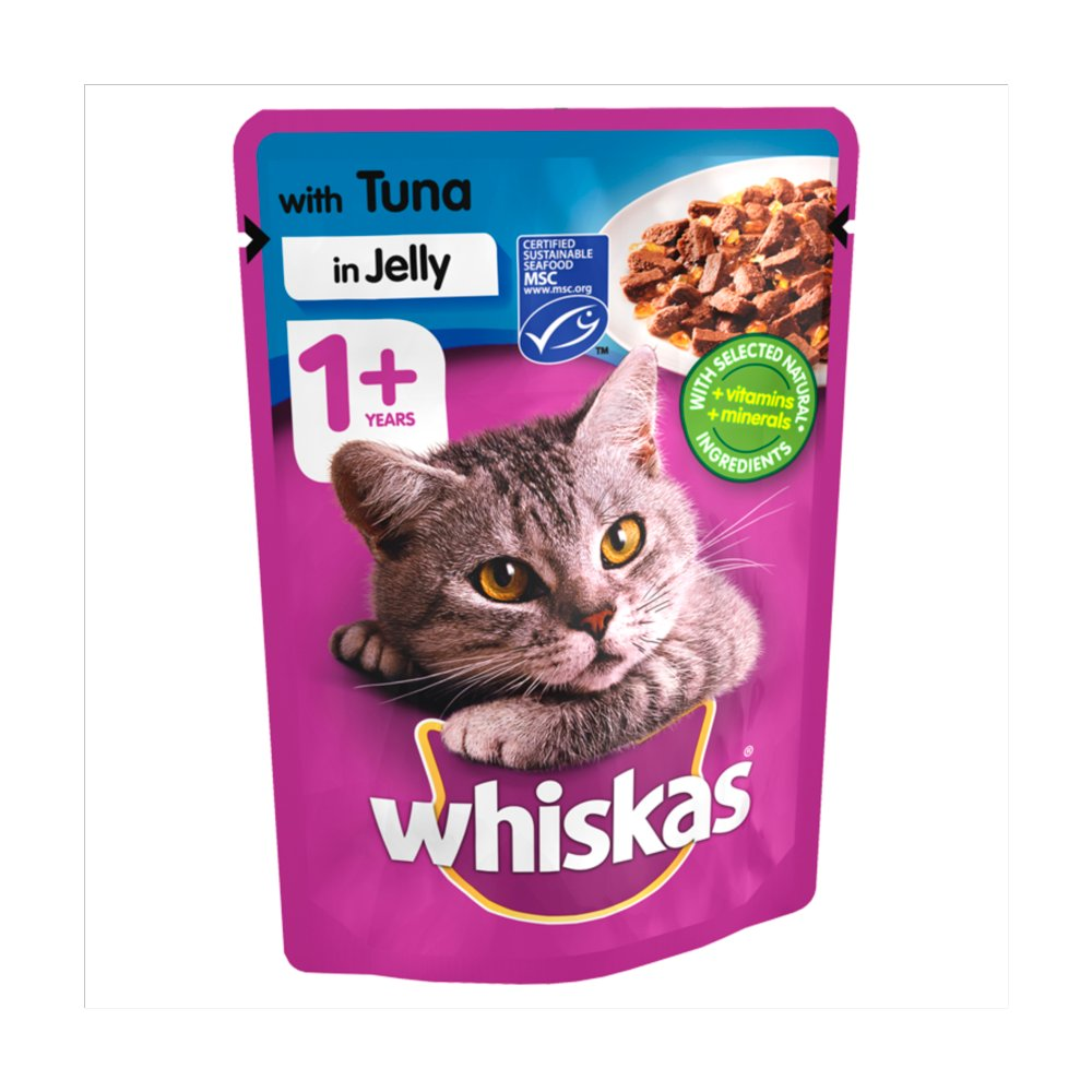 Whiskas Pouch 1+ Tuna In Jelly PM 3 For £1
