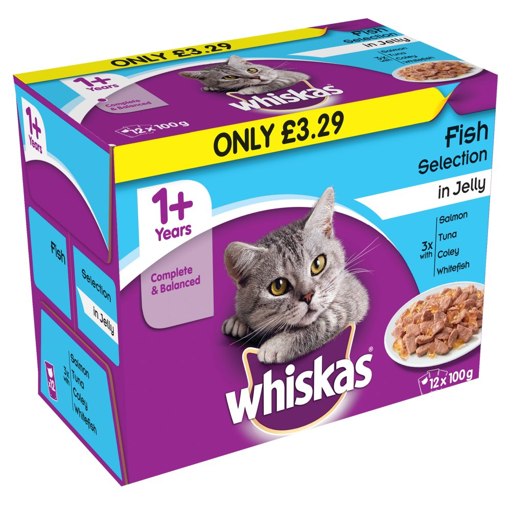 Whiskas Pouch Jelly Fisherman 12 Pack PM £3.29