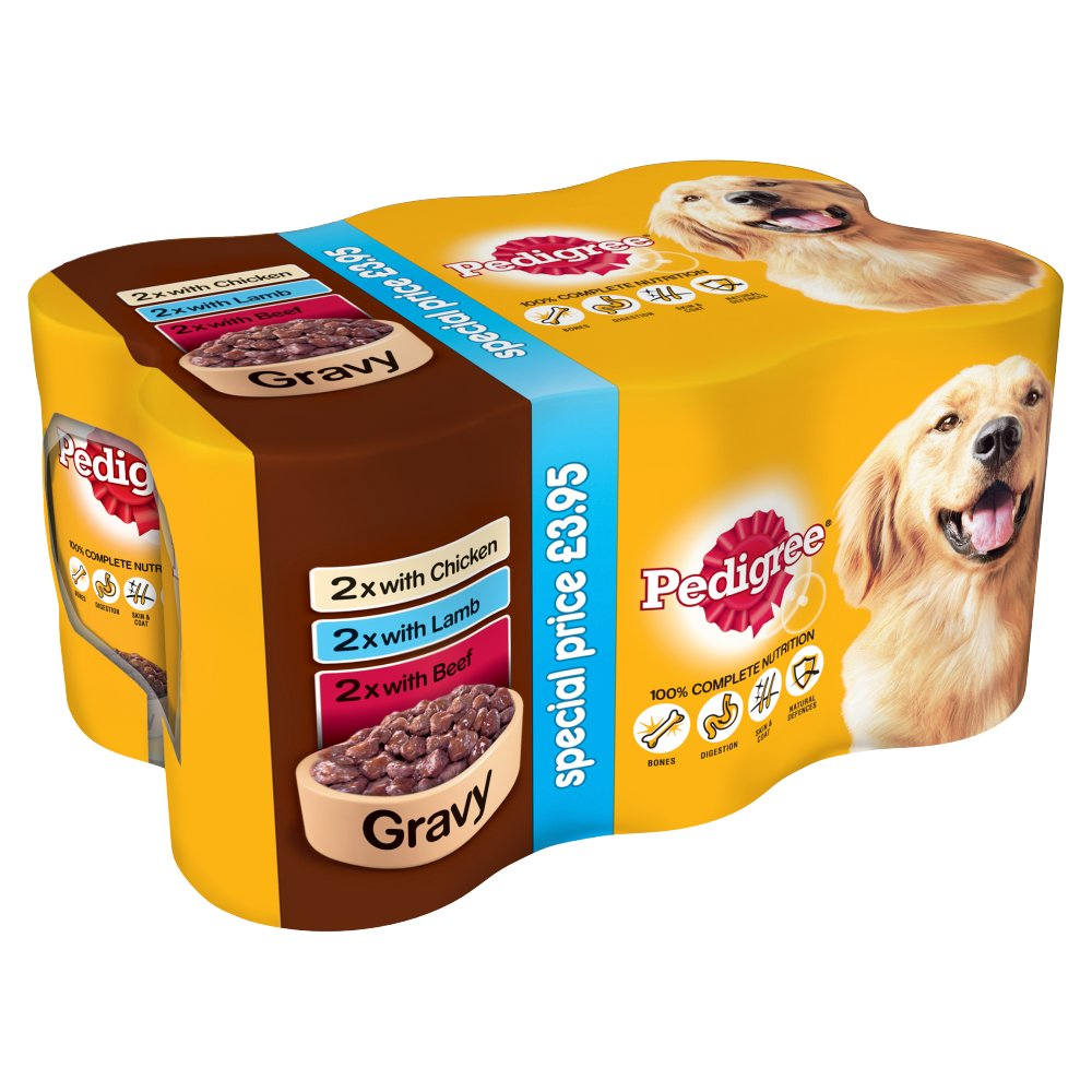 PEDIGREE Dog Tins Mixed Selection in Gravy 6 x 400g