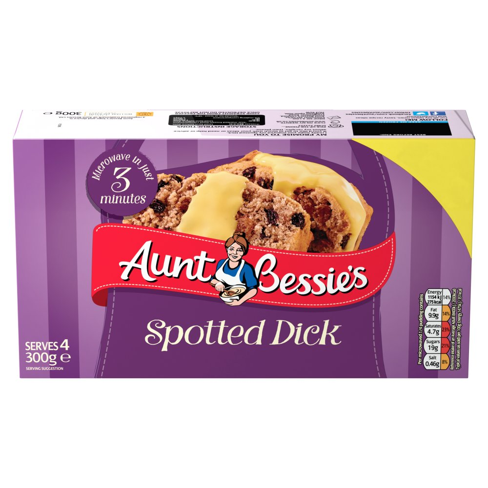 Aunt Bessies Spotted Dick PM £1.59
