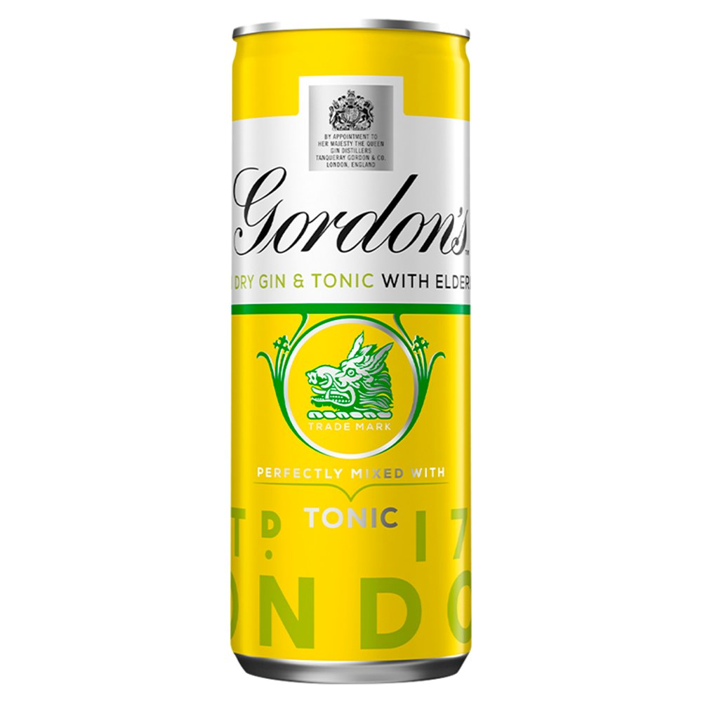 Gordons Elderflower 5% Abv
