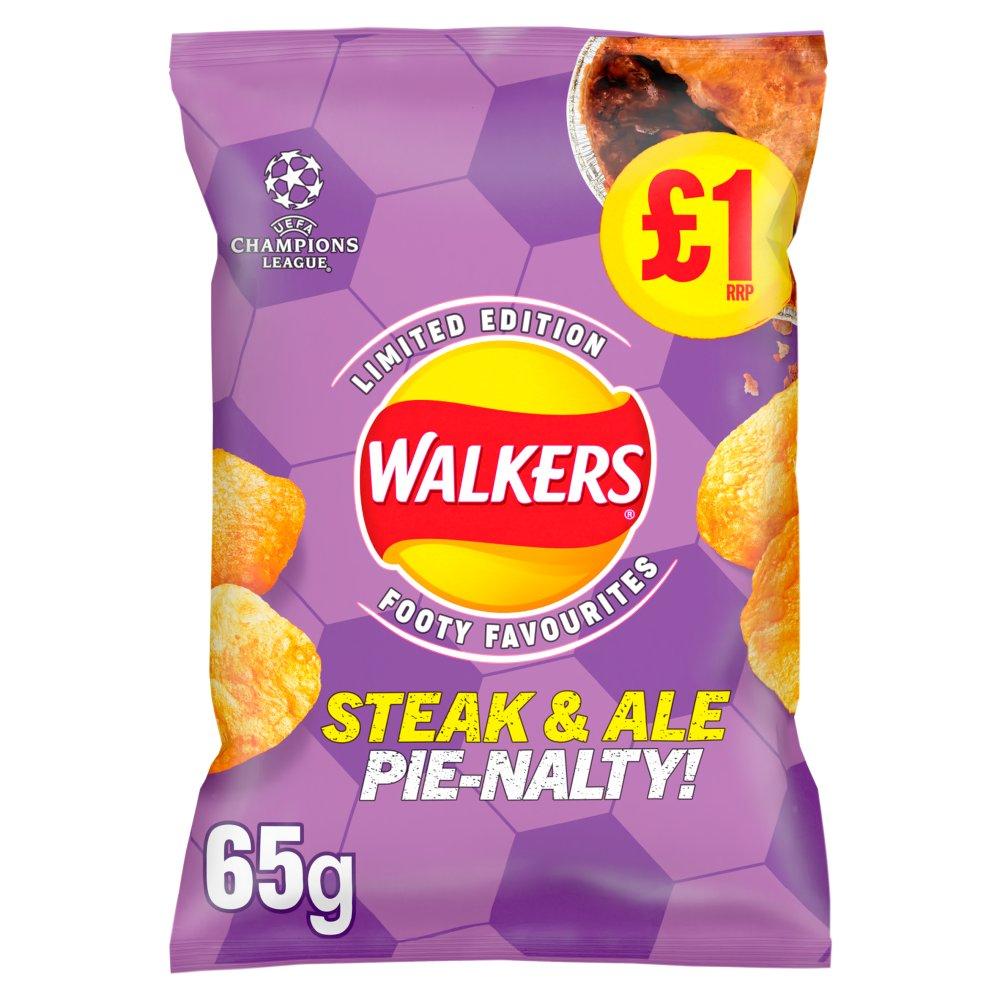 Walkers Steak & Ale Pienalty Crisps £1 RRP PMP 65g