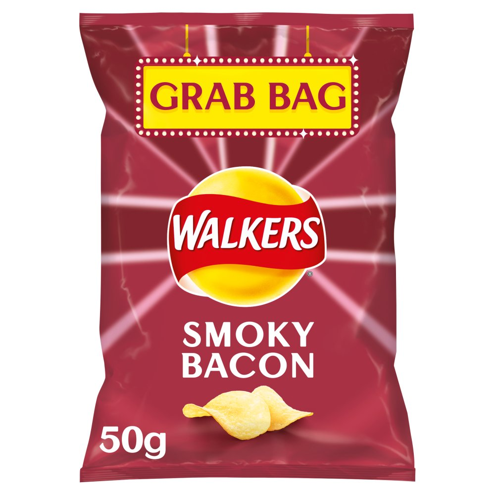Walkers Smoky Bacon Grab Bag Crisps 50g