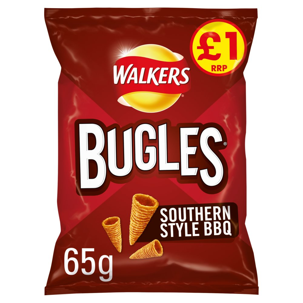 Walkers Bugles Southern Style BBQ Snacks £1 PMP 65g