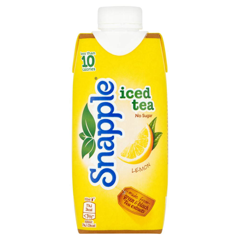 Snapple Lemon Iced Tea 330ml Cartons