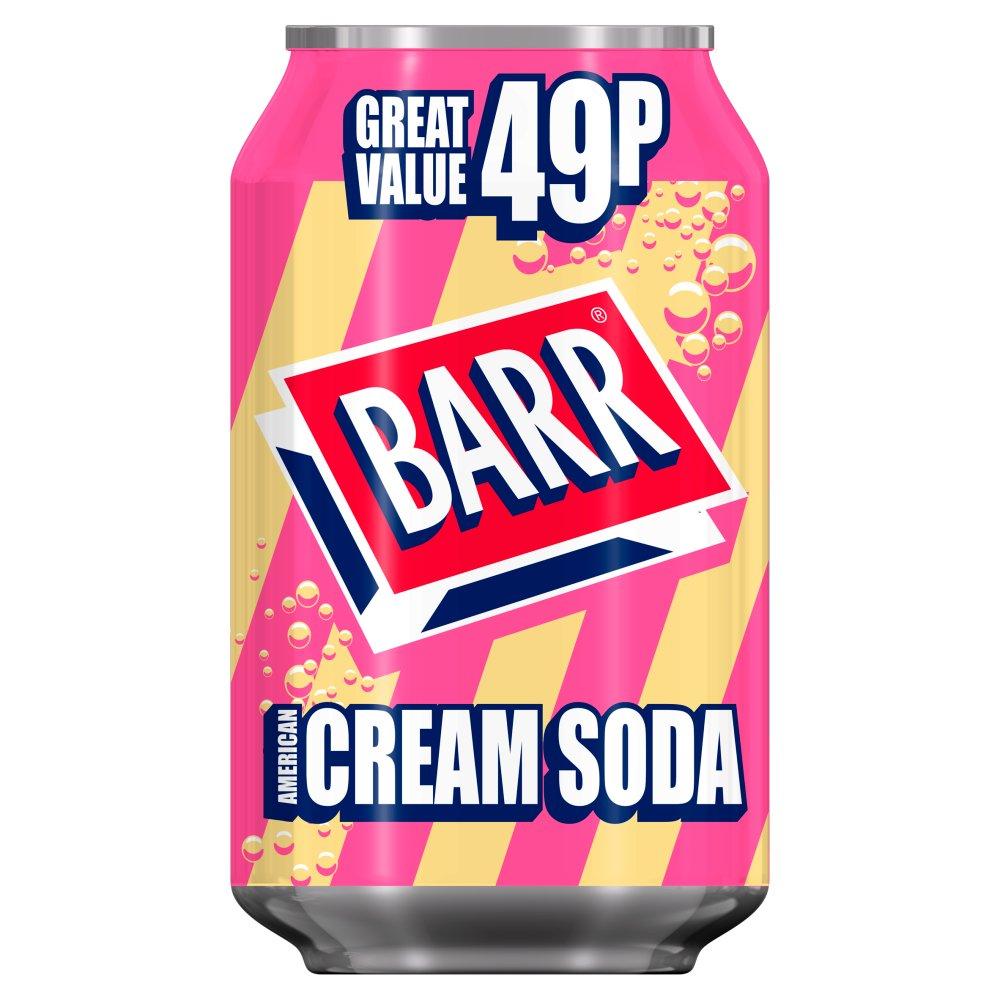 Barr American Cream Soda 330ml Can, PMP 49p