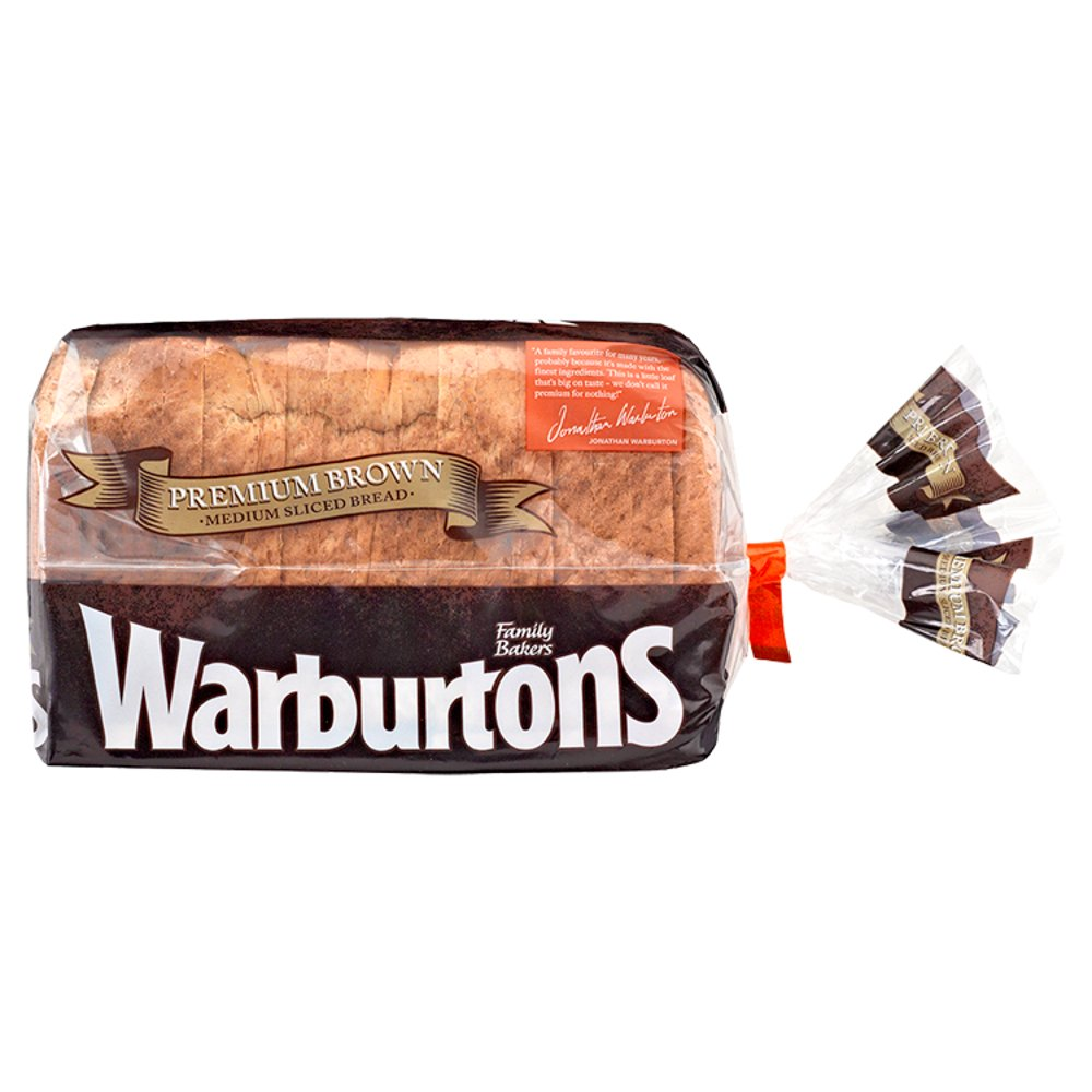 Warburtons Medium Sliced Premium Brown Bread
