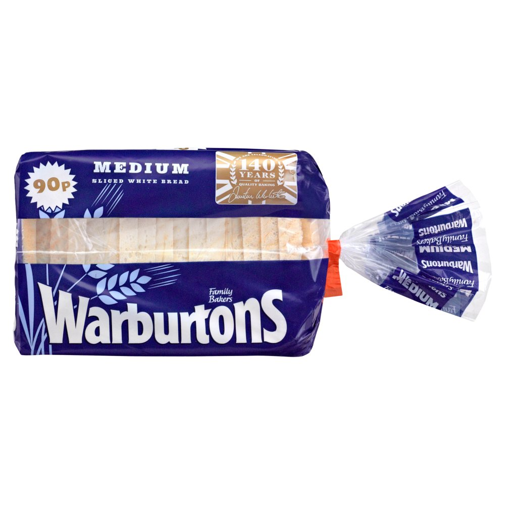 Warburtons White Medium PM 90p