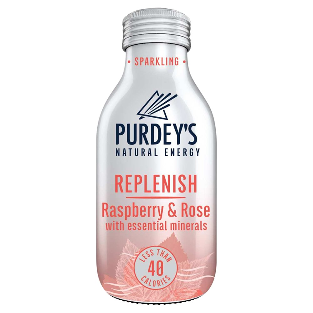 Purdey's Natural Energy Replenish Raspberry & Rose with Essential Minerals 330ml