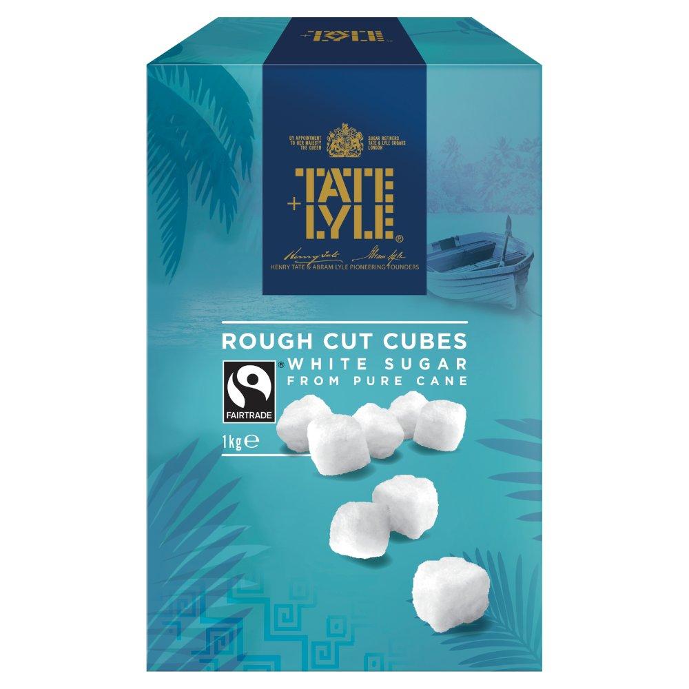 Tate & Lyle Fairtrade Cane Sugar White Rough Cut Sugar Cubes 1kg