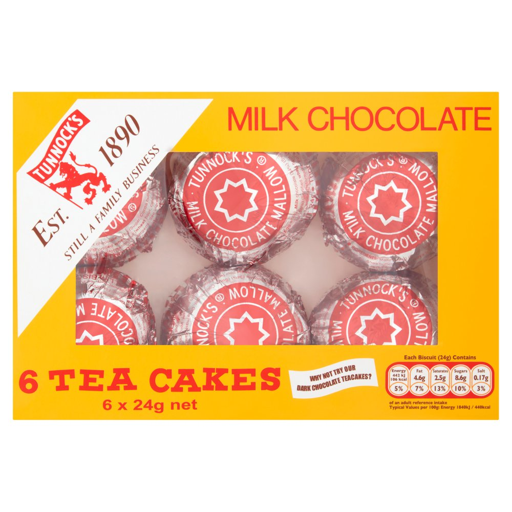 Tunnocks Chocolate Tea Cakes 6 Pack