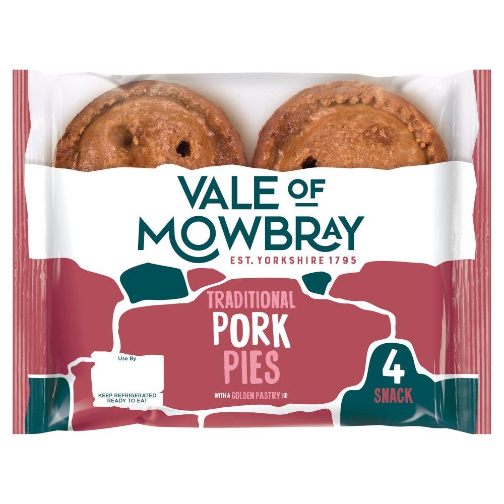 Vale of Mowbray 4 Snack Pork Pies
