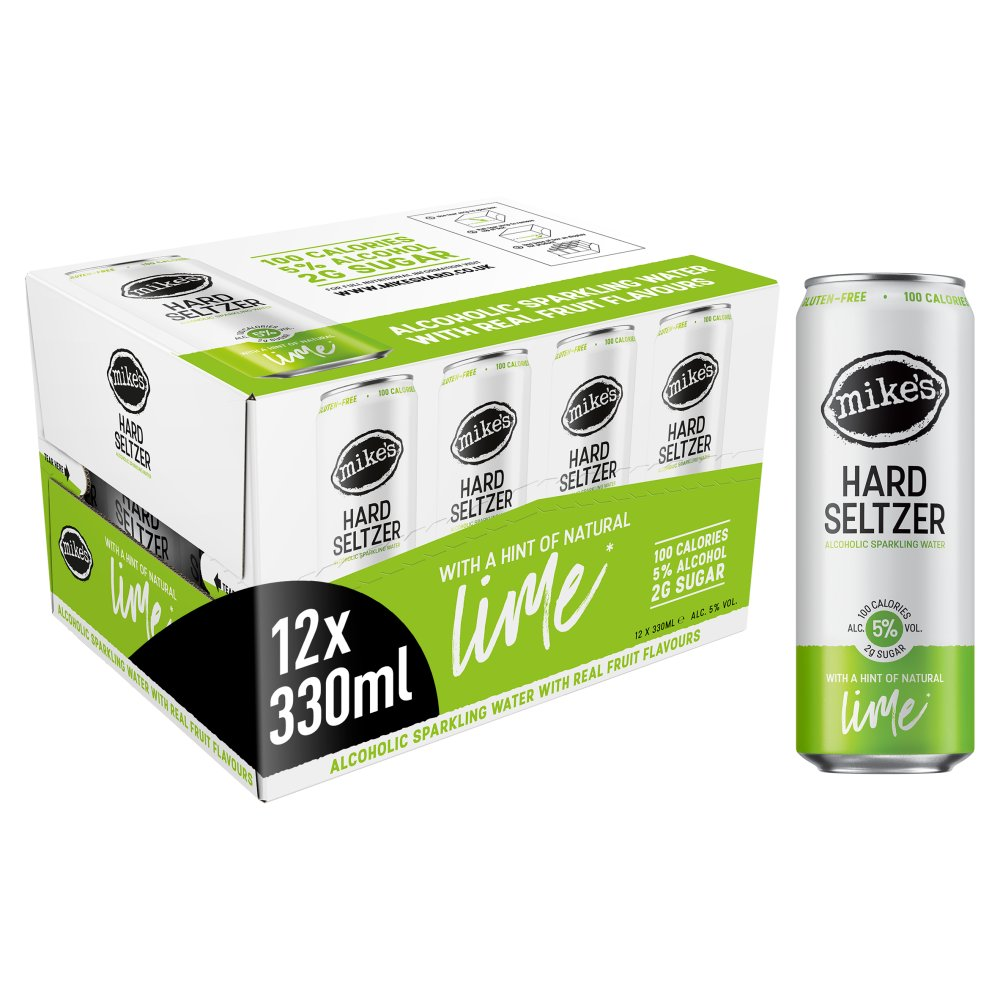 Mike's ABV Hard Seltzer Lime 12 x 330 ml Cans