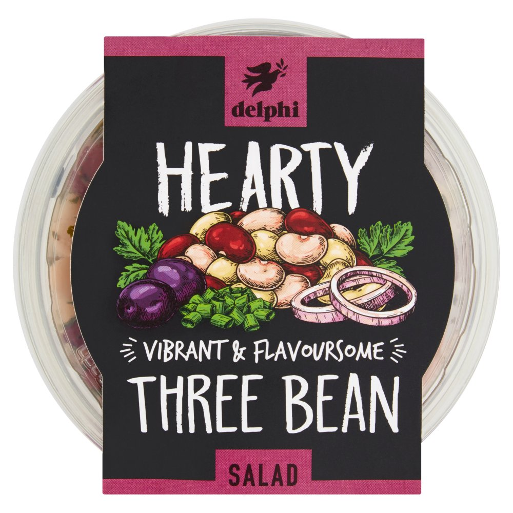 Delphi Three Bean Salad Marinated with Olive Oil and Herbs 220g