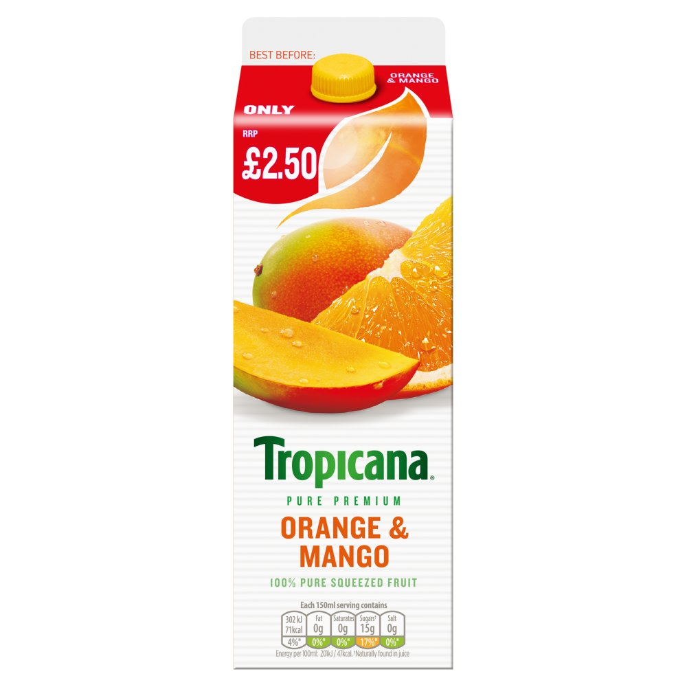Tropicana Orange & Mango Juice PMP £2