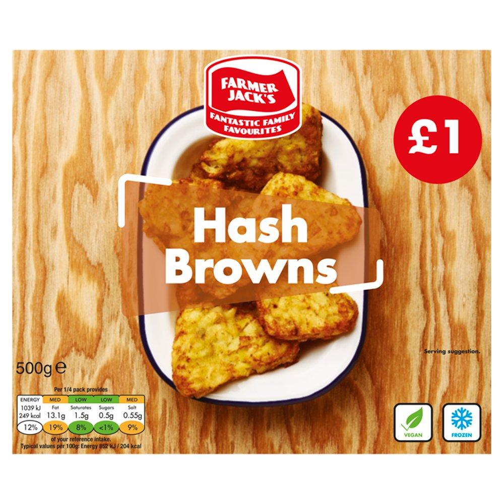 Farmer Jack's Hash Browns 500g